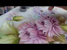 Pintura em Tecido. Aprenda pintar Crisântemo e Folhas - YouTube