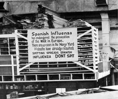 Mounted on a wood storage crib at the Naval Aircraft Factory, Philadelphia. As the sign indicates, the Spanish Influenza was then extremely active in Philadelphia. Note the sign's emphasis on the epidemic's damage to the war effort. World War I, World History, Family History, Philadelphia, Flu Epidemic, Naval History, Sick Kids, Influenza, The Weather Channel