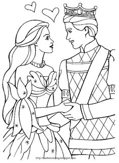 BARBIE COLORING PAGES: KEN AND BARBIE BLACK AND WHITE PAGES TO COLOR