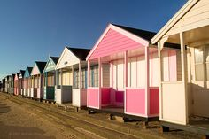 Southwold Beach Huts on the Suffolk coast. British Beaches, British Seaside, British Summer, British Isles, Beach Cottages, Beach Huts, Suffolk Coast, Seaside Beach, Historical Sites
