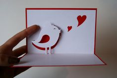 Pop up Card - Pioupiou - Kirigami by StudioKitchenette on Etsy, €3,00