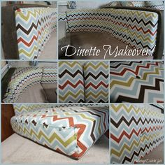 Vintage Dutch Girl: Travel Trailer Makeover, Part 6: New Dinette! Recover those cushions!