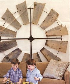 Windmill - wow this would be perfect for the big back wall in my living room Western Decor, Country Decor, Rustic Decor, Farmhouse Decor, Country Style, Primitive Decor, Country Interior, Western Chic, Country Homes