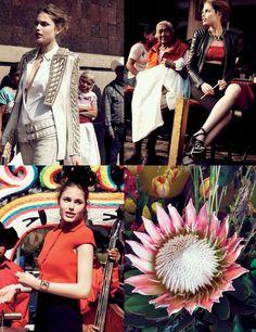 """Mrs Mariachi""  A modelo Maja Krag foi clicada pela fotógrafa Carlotta Manaigo, para editorial da Elle Bélgica, Junho 2012. - blog da bibis"