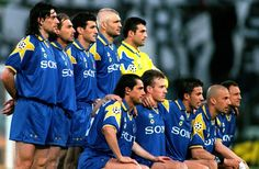 Juve to face Ajax in the 1996 Champions League final.    Ikke rart gjengen her vant CL det året    Torricelli, Pessotto, Ferrara, Ravanelli, Peruzzi; Sousa, Deschamps, Del Piero, Vialli, Vierchowod.