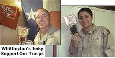Whittington's Jerky Supports Our Troops FREE JERKY