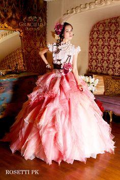 ROSETTI pink Designer Wedding Dresses, Bridal Dresses, Wedding Gowns, Prom Dresses, Formal Dresses, Pretty Dresses, Beautiful Dresses, Fantasy Gowns, Disney Princess Dresses