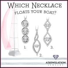 Which #necklace floats your boat?  #Diamonds #Pendant #Necklace