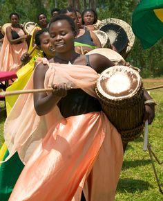 Female drummer group, Burundi