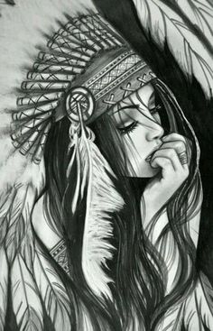 Taino Indian Tattoos - The Timeless Style of Native American Art - Tattoo Shops Near Me Local Directory Cool Drawings, Drawing Sketches, Pencil Drawings, Native American Girls, American Indians, Bild Tattoos, Chicano Art, Wow Art, Painting & Drawing