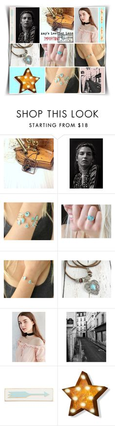 """""""Amy's Turquoise Boho"""" by leotajane ❤ liked on Polyvore featuring Rosanna, women's clothing, women, female, woman, misses, juniors and amysleatherlane"""