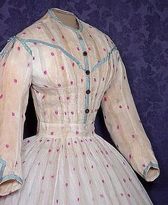 I like the little touch of blue on the bodice.