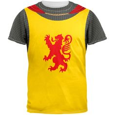 Knight Rampant Lion Costume All Over Adult T-Shirt | OldGlory.com