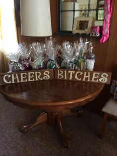 Gifts for bachelorette weekend at the camp!