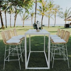 Wedding Furniture, Furniture Decor, Outdoor Furniture Sets, Outdoor Decor, Welcome To The Party, Wedding Welcome, Outdoor Cocktail Party, Floral Wedding, Bar Stools