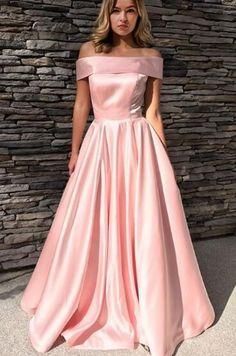 Elegant Prom Dress Evening Dress Pink A-line Strapless