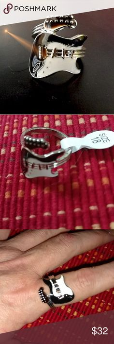 GLAZED GUITAR RING NWT Design as Shown NWT Fits a 9 Jewelry Rings
