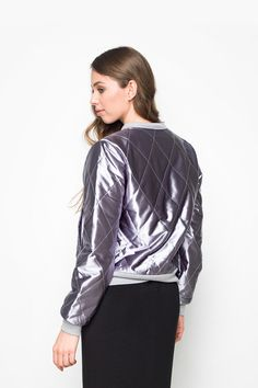 Minkpink - Brave Heart Satin Quilted Bomber