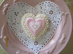 heart cookie.  lacy center.  wedding/bridal shower/valentine's day cookie