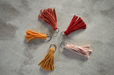 Llaveros hechos a mano con trapillo