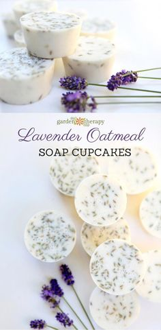This lavender oatmeal soap is soothing and calming for your skin and, even though it looks complicated, it is incredibly easy to make at home for gifts. #naturalsoapmaking