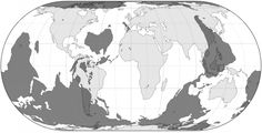 A map that shows where on the globe you'd end up if you dug straight through.