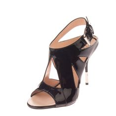55858edab612 RRP 475 GIUSEPPE ZANOTTI Leather Sandals Size 36 UK 3 Cut Out Made in Italy