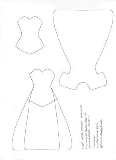 A little bit of shiny: Paper Dresses Template