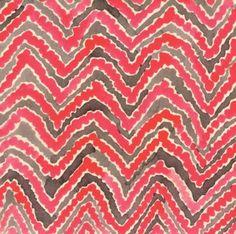 Pink Zig-zag Print