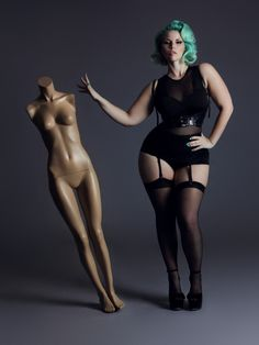 Elly Mayday, Canadian plus size model. I WISH I HAD THIS WOMAN'S CURVES. HOLY COW. She is beyond gorgeous.