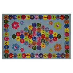 Fun Rugs Fun Time FT-97 Happy Learning Area Rug - Multicolor - FT-97