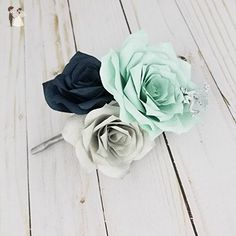 Dragon boutonniere using mint green paper flowers - Wedding table decor (*Amazon Partner-Link)