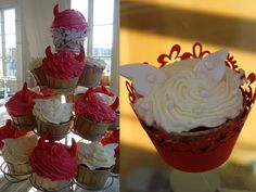 Angel Red Velvet cupcakes