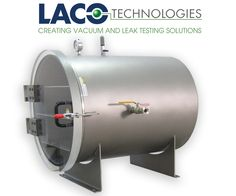 """LVC2430-3112-HI 24"""" X 30"""" HI VACUUM CHAMBER - LACO's Stainless Steel Horizontal HI Vacuum Chamber can easily be customized for your application needs. Our 24"""" diameter x 30"""" long vacuum chamber."""