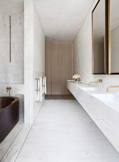 White Marble bathroom Indigo Slam | Est Living