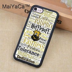 MaiYaCa Hufflepuff Hogwarts Harry Potter Phone case For iPhone 6 6s Soft TPU Full Protective Cover For iPhone 6 6s Cases Coque