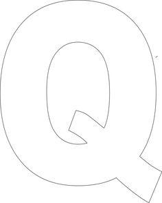 Free Printable Q Template