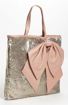 RED Valentino #Sequin Bow Tote  Twinkle, golden and glam up your life!