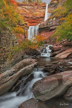 Autumn, Kaaterskill Falls, North-South State Park, Catskill Mountain Preserve, NY