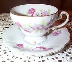Floral Occupied Japan Tea Cup and Saucer
