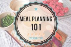 Meal Planning for Real Food 101
