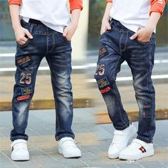 Classic spring autumn children's infant soft denim boy OR girl jeans casual trousers,Boy patch jeans. 3 5 7 8 10 12 14 years old Patched Jeans, Denim Jeans Men, Casual Jeans, Ripped Jeans, Skinny Jeans, Boys White Jeans, Girls Jeans, Jeans Dress, Jeans Pants