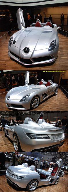 GENEVA AUTO SHOW - 2009 - COOL MERCEDES BENZ SLR SPORTSCAR