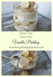 Creamy and delicious gluten free and dairy free vanilla pudding.