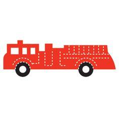Fire Truck- Large; IMC Die Cut #144