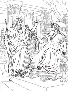 king david and nathan coloring page from king david category select from 20946 printable crafts