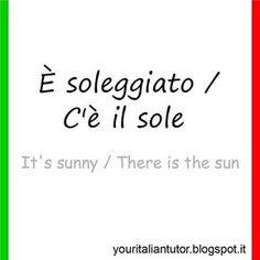 IL TEMPO (The weather) #italianteacher #italianlessons #italianlanguage #learnitalian #italianonline #italianvocabulary #italiandictionary #italianwords