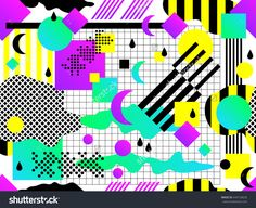 Seamless geometric pattern in retro 80s 90s style. Doodle geometric shapes. Abstract vector retro memphis design. Perfect for wallpapers, pattern fill, web background, surface texture, textile