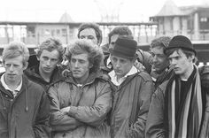Roger Daltrey and cast on the set of Quadrophenia