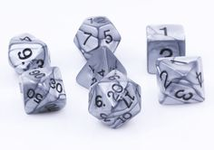 Olympic Dice (Silver) | RPG Role Playing Game Dice Set